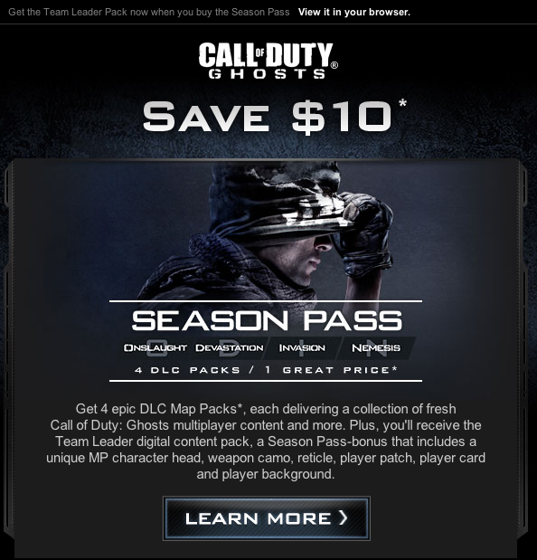 Call Of Duty Ghost Dlc Maps on