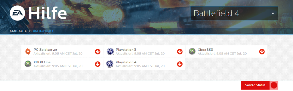 Battlefield 4 Server Down
