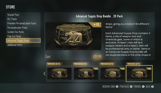 Advanced Supply Drops
