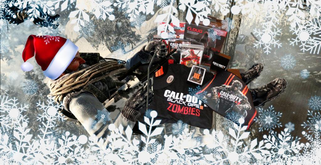 Das Call of Duty Infobase Weihnachtsgewinnspiel - Die Preise, geliefert vom Weihnachts-äh-Black-Ops-Soldaten.