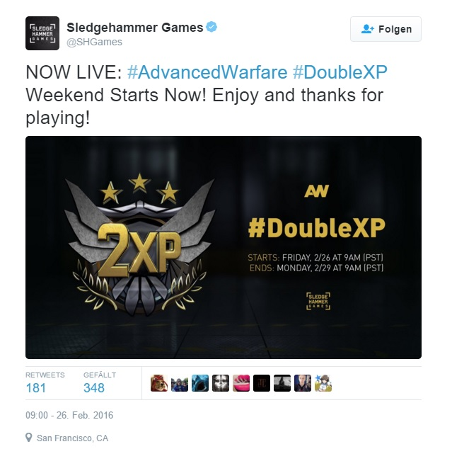 aw double xp