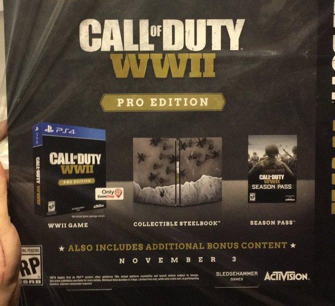 So wird die Call of Duty: WWII Pro Edition wohl aussehen! Offizielle Info steht aber noch aus.