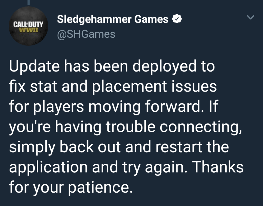 In-game Update