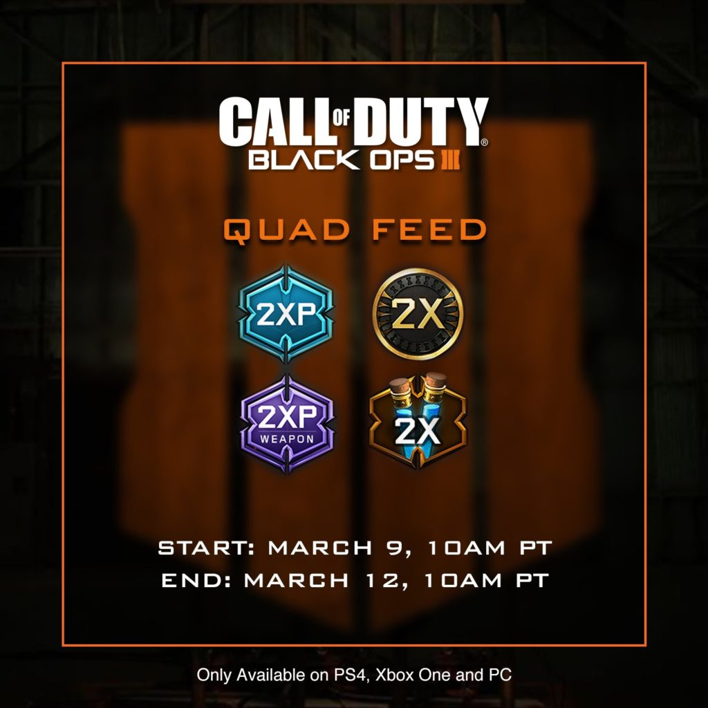 Quad Feed Weekend