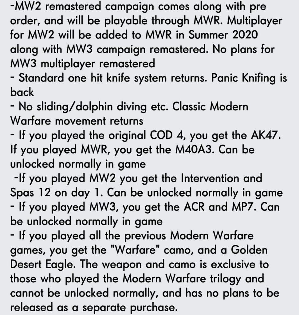 Modern Warfare 4 - Plausible Gerüchte Teil 2